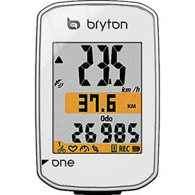 Bryton Rider One C Ciclocomputer incl. Sensore di cadenza, white